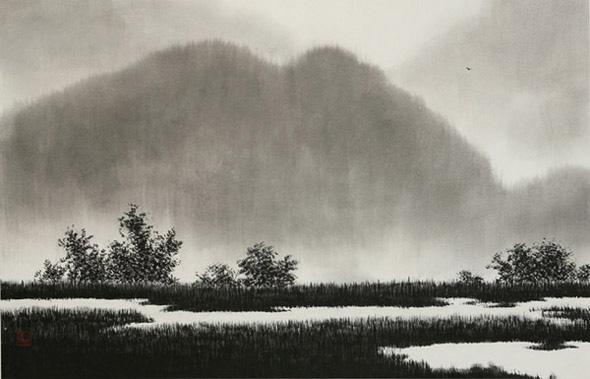 「韓国墨絵の世界」-李旻漢 作品展-
