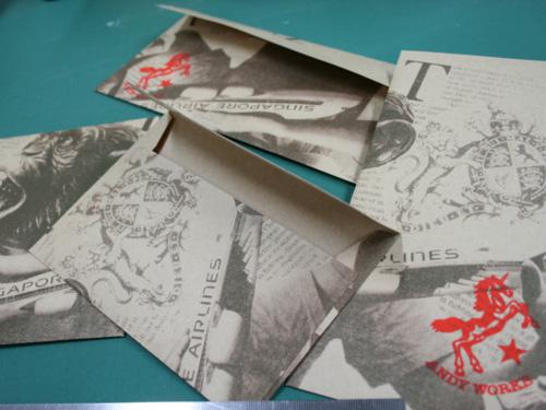 オリジナルのデザインをシルクで刷って、封筒を作ろう
