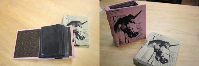 オリジナルのデザインをシルクで刷って、洋書風のアルバムを作ろう