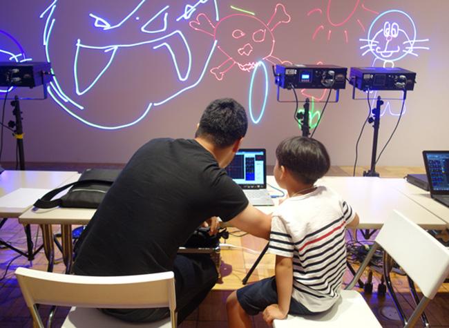 夏の3331こども芸術学校2016 『レーザーアニメ教室』