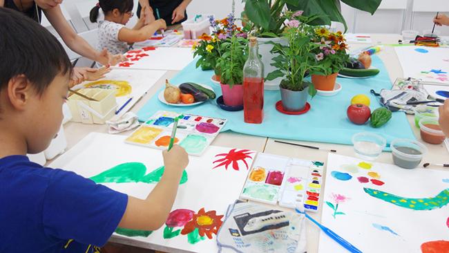 夏の3331こども芸術学校2017 『3日間の集中絵画教室』