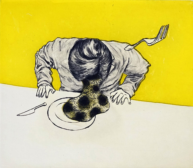『束芋:ズンテントンチンシャン』   束芋による初の銅版画展